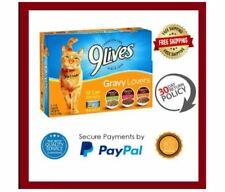 New listing Gravy Wet Cat Food 9Lives Variety 5.5Oz Cans Pack Of 12 Vintage Favorites Flavor