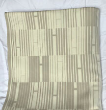 Hermes Contemporary 85% Cotton 15% Cashmere SUPER SOFT New Blanket, Retail $2000