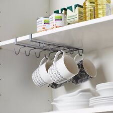 Under Shelf Coffee Cup Mug Holder Hanger Storage Rack For Kitchen Cupboard