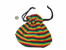 Guatemalan Drawstring BAG -  BG04 Stash Pouch Small Colorful Cloth Purse Rasta