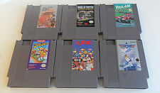 Nintendo NES Games Lot Disney's Duck Tales Dr Mario Top Gun Tested Work FREE S&H