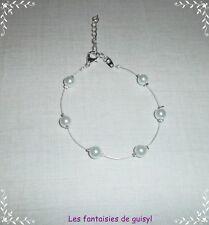 Bracelet perle nacrée blanche,SPECIAL PRIX MINI