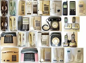 Various Vintage Australian TELEPHONE Rotary Dial / Button Home Phones - Telecom