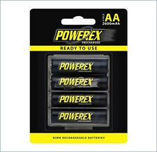 Maha Powerex 2600 AA Rechargeable Precharged Batteries Pack of 4