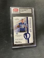 2002 Score QBC Materials #4 Peyton Manning Jersey Card SCD Authentic - Untouched