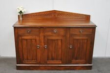 Lovely Antique Edwardian Walnut & Pine Sideboard * Buffet * Tv Stand  c1900