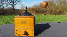 Vintage French ODAX Coffee Grinder Fully Working Moulin à Café Black Enamel