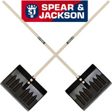 2 X SPEAR JACKSON SNOW SHOVEL PUSHER SCOOPER MUCKING OUT CLEARING SPADE 1.4M