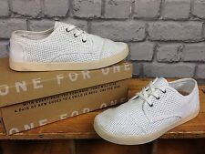TOMS LADIES UK 5 EU 37.5 WHITE PASEO PERF TRAINERS RRP £67