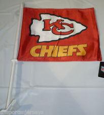 NFL NWT CAR WINDOW FLAG - KANSAS CITY CHIEFS
