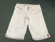 Edc By Esprit 1/2 Jeans Knielang Gr 27 Denim Weiß Stretch Mod.Five Schmal 1A