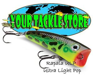 Rapala ULP04 Ultra Light Pop Pick Colors & Quantity NIB
