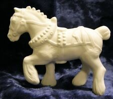 Ceramic Bisque Ready to Paint Draft (Clydesdale) horse Small ready for dressage