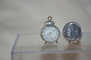 Miniature Dollhouse Vintage Japan Alarm Clock & Compass 1:12 NR
