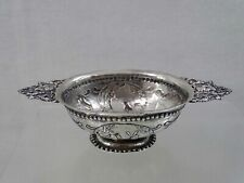 FINE ANTIQUE DUTCH SILVER SMALL BOWL / SWEETMEAT DISH 18th century hand chased