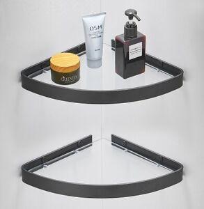 Bathroom Triangle Shower Shelf Glass Corner Storage Racks Soap Holder Wall mount
