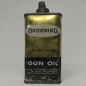 Vintage Browning Ultra-Fine  Gun Oil bottle 4oz Handy Oiler *Half Full*