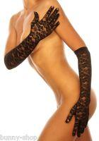 Edle 47 cm lange Spitzen Handschuhe schwarz, weiß oder rot One Size Cosplay