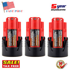 Milwaukee M12 Red Lithium Compact Battery , Pack of 2