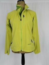 Womens Patagonia R Regulator Fleece Jacket Medium EUC Yellow Green Full Zip