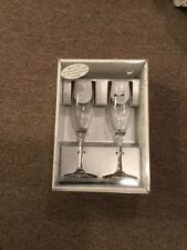Hortense B. Hewitt Wedding Accessories Champagne Toasting Flutes, Butterfly Beau