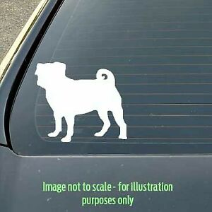 120mm Pug dog silhouette decal for a car / caravan / truck / toolbox