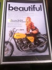 Vintage Norton Commando 750  Poster Man Cave Garage Art