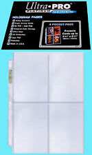 """50 ULTRA PRO PLATINUM 4-POCKET Pages NEW Sheets Protectors Holo 3-1/2"""" x 5-1/4"""""""
