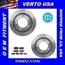 Set Of 2 Brake Rotors &Ceramic  Pads - Front , fit Chevrolet Tracker , Suzuki