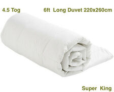 4.5 Tog 6ft Super King size Duvet Quilt - White Blended Cotton - 260 x 220cm S/S