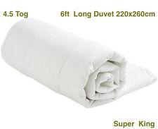 4.5 Tog 6ft SUPER KING size Duvet Quilt - White Blended Cotton - 260 x 220cm S/S