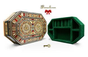 Schmuckkasten Holzschatulle ,abschließbar,box,mit Schmuck Unterteilung K30206U