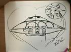 Bob Lazar Sport Model Sketch SOLD OUT PRINT! Signed by Bob Lazar.