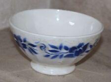 ancien bol fleuri bleu et blanc