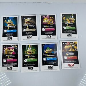 Monopoly Gamer Nintendo Mario Replacement Pieces 8 Boss Cards Koopa Bowser