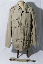 Orvis Men's Beige Belted Travel Safari Tour Field Jacket sz XXL