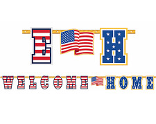 Patriotic Welcome Home Foil Letter Banner ~ Welcome Party Decorations Supplies