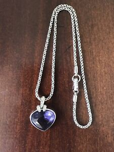 """Authentic Swarovski Oceanic Necklace Crystal Heart 1791275 16.5"""""""