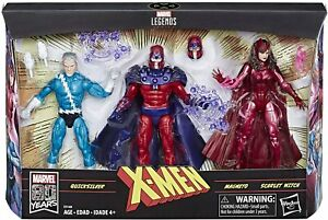 Marvel Legends Family Matters 3-Pack w/ Magneto Quicksilver & Scarlet Witch set