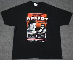 Vintage 1999 Fury In The Desert Oscar De La Hoya Floyd Mayweather T-Shirt XL