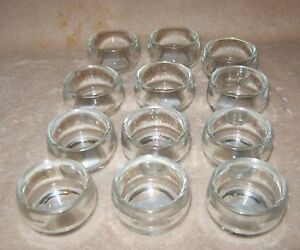GANZ Clear Glass Tea Light ~ 12 Candle Holders ~ 1 dozen ~ NEW!!