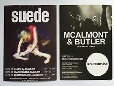 SUEDE 2013 / McAlmont & Butler 2015 promo FLYERS live concert tour roundhouse