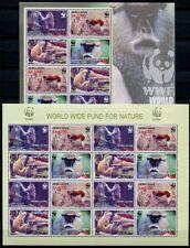 SIERRA LEONE 2004 WWF Affen Monkeys Kleinbögen (2) **