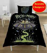 NEW RICK AND MORTY SINGLE DUVET QUILT COVER SET FANS BEDROOM BED & TV SHOW GIFT