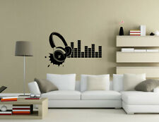 Headphone Earphone Music Wall Quotes Wall Art Living Room Wall Stickers UK 50s