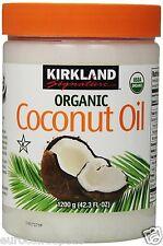Kirkland Orgánico Aceite de coco virgen prensado en frío sin refinar 100% puro 1.2g Bañera