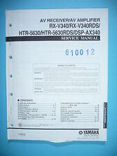 Service Manual-Instructions pour yamaha rx-v340/htr-5630/dsp-ax340, original