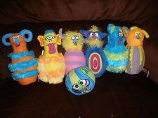 Melissa & Doug Monster Plush Bowling Game Kids 6 Wacky Pins 1 Silly Stuffed Ball