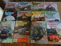 12 x Railway world magazines by Ian Allan  1990 Complete