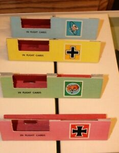 1963 Set of 4 American Heritage Dogfight Game Card Stand Pink Green Blue Yellow